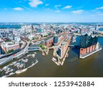 hamburg city centre aerial... | Shutterstock . vector #1253942884