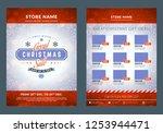 christmas sale catalog design.... | Shutterstock .eps vector #1253944471