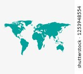 world map vector  isolated on... | Shutterstock .eps vector #1253948554