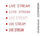 vector tv news banner interface ... | Shutterstock .eps vector #1253948584