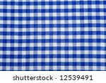 Blue Gingham Or Checked...