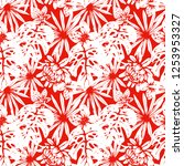 seamless pattern with tropical...   Shutterstock .eps vector #1253953327