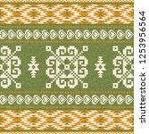 navajo style geometric... | Shutterstock .eps vector #1253956564