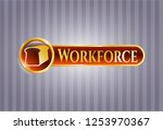gold emblem or badge with... | Shutterstock .eps vector #1253970367