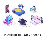 knowledge and education concept.... | Shutterstock .eps vector #1253973541