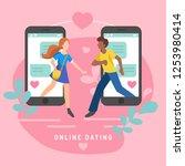 vector illustration for online... | Shutterstock .eps vector #1253980414