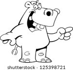black and white illustration of ... | Shutterstock . vector #125398721