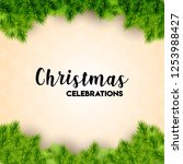 christmas card design with... | Shutterstock . vector #1253988427