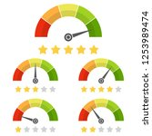 set of customer satisfaction... | Shutterstock .eps vector #1253989474