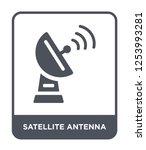 satellite antenna icon vector... | Shutterstock .eps vector #1253993281