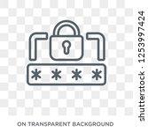 pin code icon. trendy flat... | Shutterstock .eps vector #1253997424