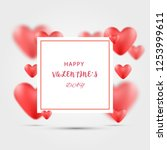 valentines day background with... | Shutterstock .eps vector #1253999611