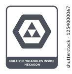 multiple triangles inside... | Shutterstock .eps vector #1254000067