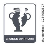 broken amphora icon vector on...   Shutterstock .eps vector #1254002527