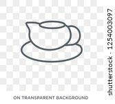 saucer icon. saucer design... | Shutterstock .eps vector #1254003097