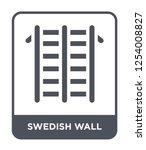 swedish wall icon vector on...   Shutterstock .eps vector #1254008827