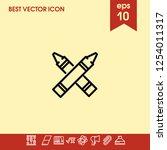 highlighter icon vector | Shutterstock .eps vector #1254011317
