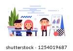 business illustration in flat... | Shutterstock .eps vector #1254019687