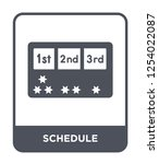 schedule icon vector on white... | Shutterstock .eps vector #1254022087