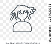 woman with curls icon. trendy... | Shutterstock .eps vector #1254030391