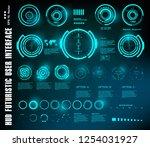 hud futuristic blue user...   Shutterstock .eps vector #1254031927