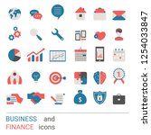 collection business icons....   Shutterstock .eps vector #1254033847