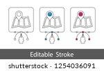 map pointer location symbol  ... | Shutterstock .eps vector #1254036091