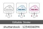 free wifi symbol   outline... | Shutterstock .eps vector #1254036094