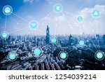5g network wireless systems and ... | Shutterstock . vector #1254039214