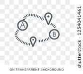 path a to b icon. trendy flat... | Shutterstock .eps vector #1254041461