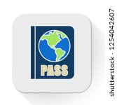vector passport icon. flat... | Shutterstock .eps vector #1254042607