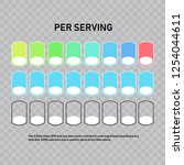 nutrition facts information... | Shutterstock .eps vector #1254044611