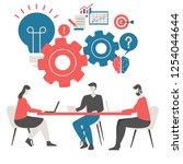creative idea and teamwork... | Shutterstock .eps vector #1254044644