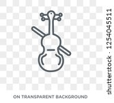 double bass icon. double bass... | Shutterstock .eps vector #1254045511