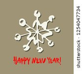 happy new year text. white... | Shutterstock .eps vector #1254047734