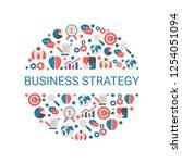 business design concept.... | Shutterstock .eps vector #1254051094