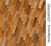 fragment of parquet floor.  | Shutterstock . vector #1254052981