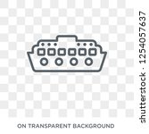 cruise ship icon. trendy flat... | Shutterstock .eps vector #1254057637