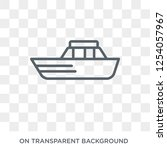 yacht facing right icon. trendy ... | Shutterstock .eps vector #1254057967