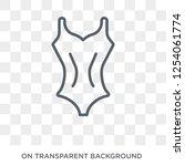 lady swimwear icon. trendy flat ... | Shutterstock .eps vector #1254061774