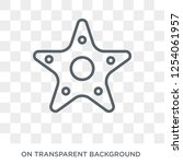 starfish with dots icon. trendy ... | Shutterstock .eps vector #1254061957