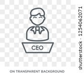 executive manager icon. trendy... | Shutterstock .eps vector #1254062071