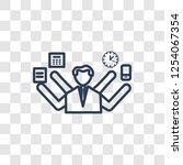 multitask icon. trendy linear... | Shutterstock .eps vector #1254067354