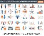 ollection of infographic people ... | Shutterstock .eps vector #1254067504