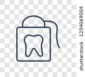 flossing icon. trendy linear... | Shutterstock .eps vector #1254069004