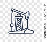 pump jack icon. trendy linear...   Shutterstock .eps vector #1254071044