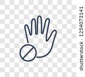 prohibition  gesture icon.... | Shutterstock .eps vector #1254073141