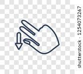 flick down gesture icon. trendy ... | Shutterstock .eps vector #1254073267