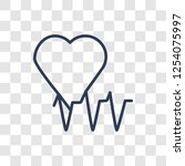 cardiogram icon. trendy linear... | Shutterstock .eps vector #1254075997