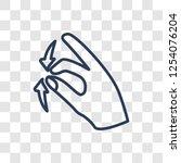 touch and scroll gesture icon.... | Shutterstock .eps vector #1254076204